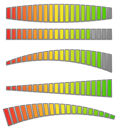 Colored progress bars, progress, strength indicators. vector Banco de Imagens - 47313927