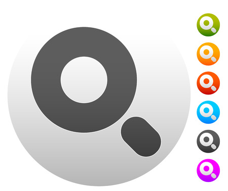 revision: Magnifier  Magnifying glass symbol, icon. Seach, seek, zoom, enlarge themes.