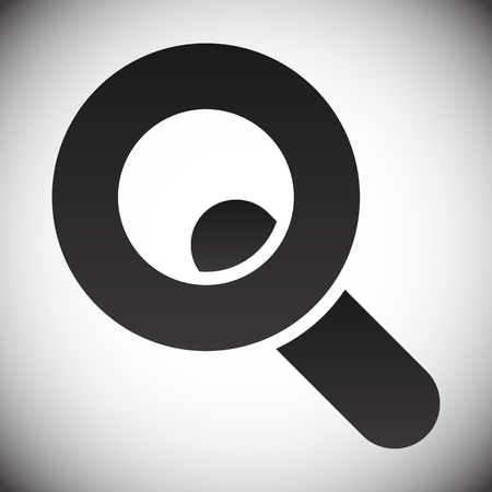 Magnifier  Magnifying glass symbol, icon. Seach, seek, zoom, enlarge themes.