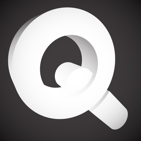 seach: Magnifier  Magnifying glass symbol, icon. Seach, seek, zoom, enlarge themes.