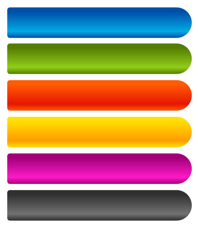 horizontal: Horizontal banner, button background. Set of 6 colors.