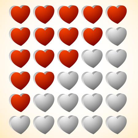 good judgment: Heart rating elements. Zero to Five hearts.