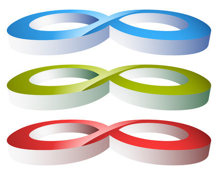 Infinity symbol. Eeverlasting, infinite or cycle, continuity themes.