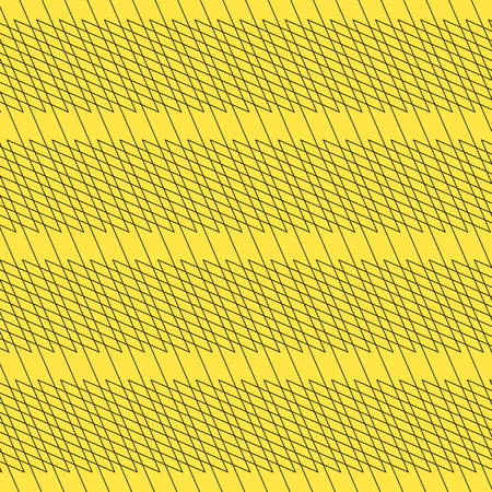 Black  yellow background with interlacing lines, abstract pattern