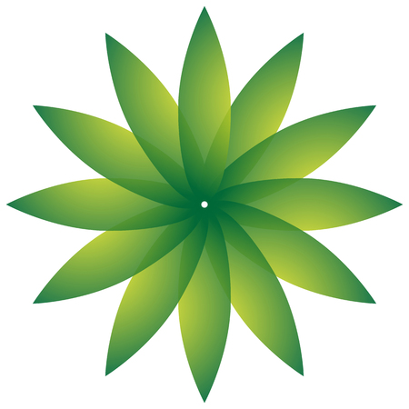leaf shape: Circular motif with leaf shape. Nature, natural, environment concepts.