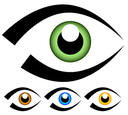 observation: Eye graphic. Vision, seeing, sight, observation. Vector. Illustration