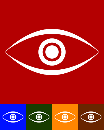 sight seeing: Eye graphic. Vision, seeing, sight, observation. Vector. Illustration