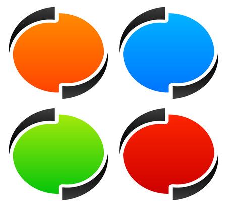 Circle, oval, ellipse design elements  backgrounds. vector graphic