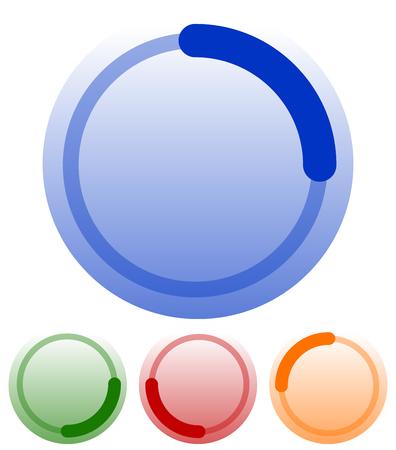 preloader: Preloader, buffer shapes, symbols. editable vector illustration