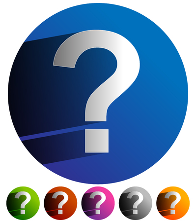 uncertainty: Question mark icon for related themes. Support, problem, questions, riddle, quiz, puzzlement, uncertainty.
