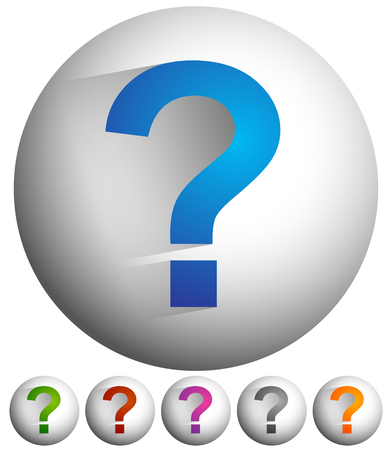 puzzlement: Question mark icon for related themes. Support, problem, questions, riddle, quiz, puzzlement, uncertainty.
