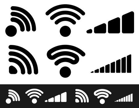 conection: Signal shape templates. editable vector graphics.