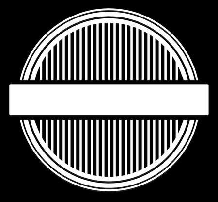 stamp seal: Blank empty stamp, seal or badge template