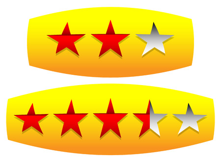 star rating: Star rating on plate.   vector illustration