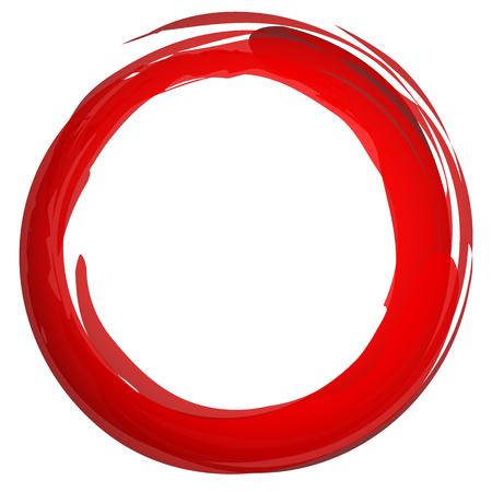 Cerchio colorato strutturato, grungy isolato su bianco Archivio Fotografico - 47317989