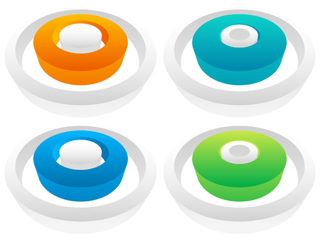 spatial: 3d Colorful circle elements. editable vector graphic. Illustration
