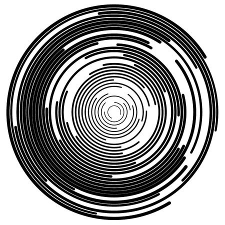 segments: Concentric segments of circles, random lines following a circle path.