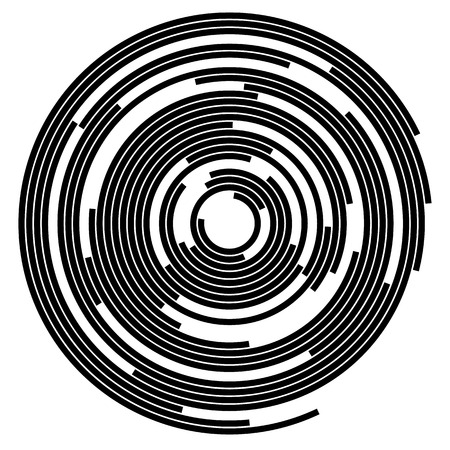 segments: Concentric segments of circles, random lines following a circle path.