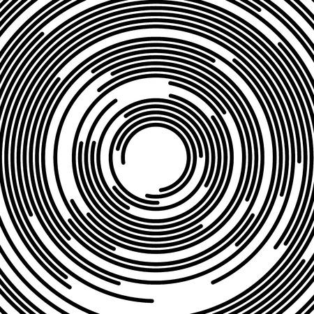 circles: Concentric segments of circles, random lines following a circle path.