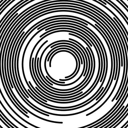 Concentric segments of circles, random lines following a circle path.
