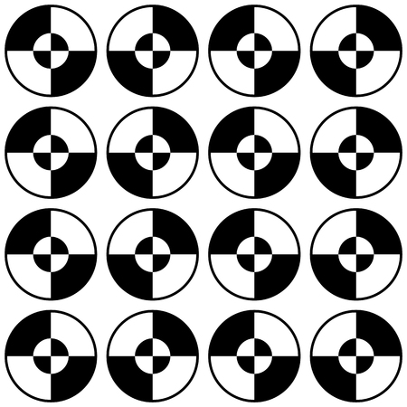 segmented: Repeatable minimal pattern with segmented, divided circles