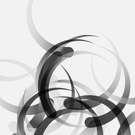 abstractionism: Grayscale, monochrome abstract vector, artistic pattern. Editable.