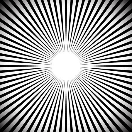 zoom: Abstract starburst, sunburst, converging lines background. vector.