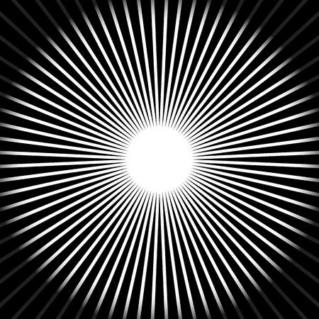 centric: Abstract starburst, sunburst, converging lines background. vector.