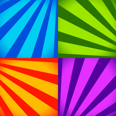 vivid colors: Set of colorful abstract backgrounds in vivid colors. Vector.