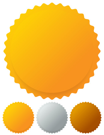 gold silver bronze: Gold silver bronze medals, badges. Vector graphics. Illustration