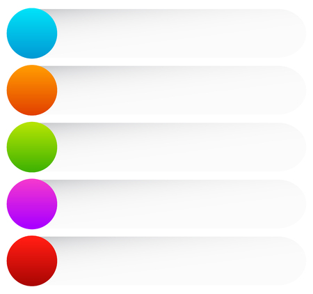 rounded: Colored rounded button, banner backgrounds. Vector graphics. Illustration