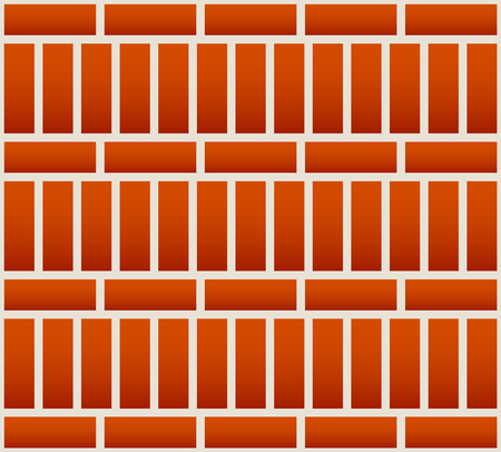 redbrick: Repeatable brick wall background  pattern with alternating layout Illustration