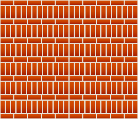 bricklaying: Repeatable brick wall background  pattern with alternating layout Illustration