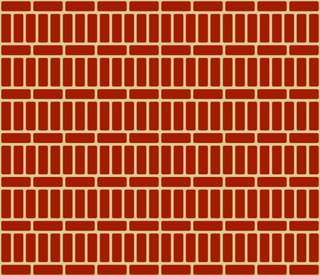 masonary: Repeatable brick wall background  pattern with alternating layout Illustration