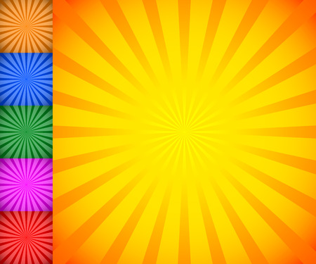 sunbeam: Starburst, sunburst background. Radiating, converging lines vector.