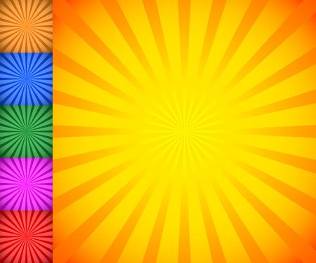 sunbeams: Starburst, sunburst background. Radiating, converging lines vector.
