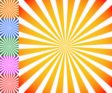 luminance: Starburst, sunburst background. Radiating, converging lines vector.
