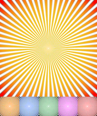 converging: Starburst, sunburst background. Radiating, converging lines vector.