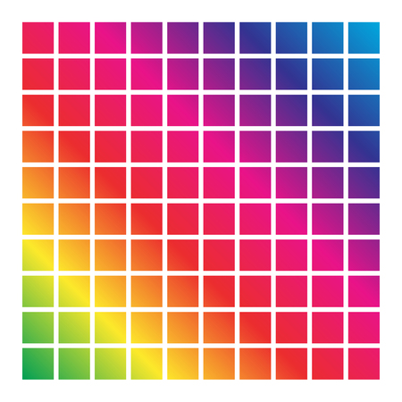 mesh: Mesh of shapes with spectrum gradient fill on white Illustration