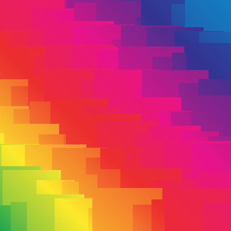 abstractionism: Random shapes with spectrum gradient fills. vector graphic