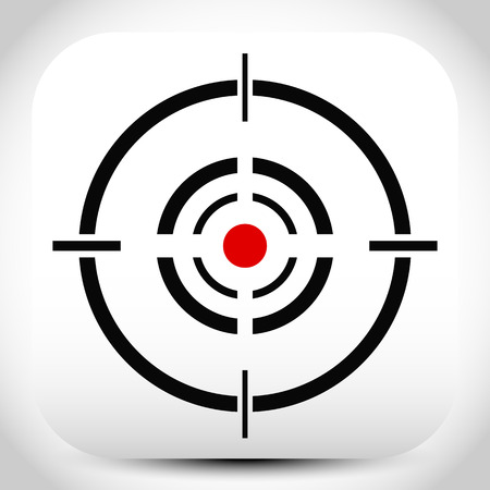cruz roja: Cruz, retícula, marca de objetivo vectorial editable.
