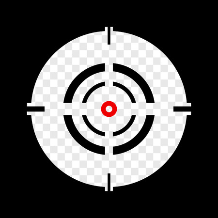 cross hair: Cross hair, reticle, target mark editable vector. Illustration