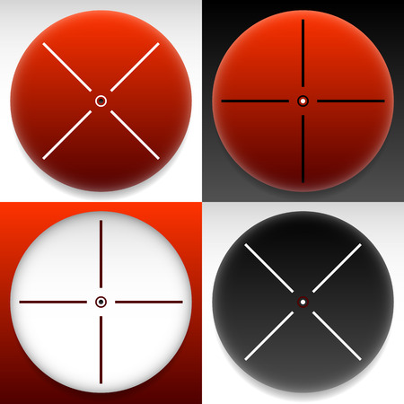 cross hair: Target mark, cross hair set. Vector graphics.
