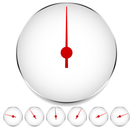 compression tank: Circle dial, gauge template. Editable vector illustration.
