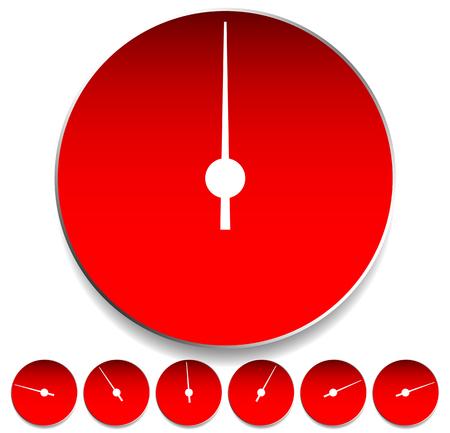 metering: Circle dial, gauge template. Editable vector illustration.
