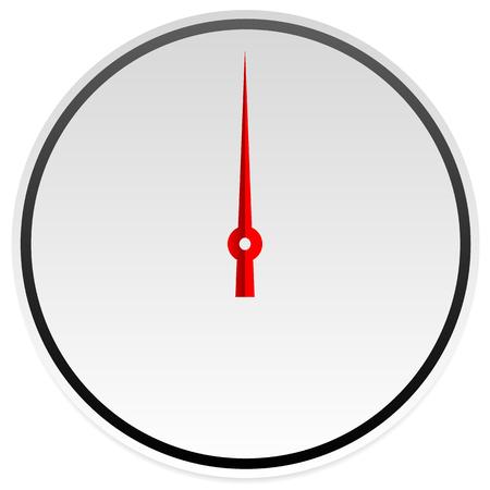 benchmark: Circle dial, gauge template. Editable vector illustration.