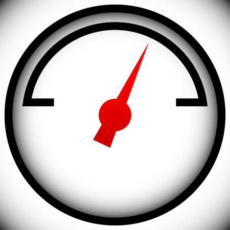 metering: Pressure gauge, generic dial template. vector graphic Illustration