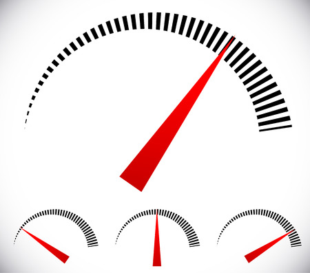 pressure gauge: Pressure gauge, generic dial template. vector graphic Illustration