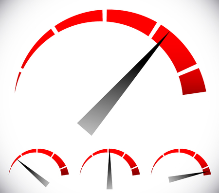 Pressure gauge, generic dial template. vector graphic Illustration