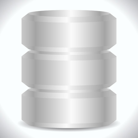 hard disk drive: Metallic cylinders. Hard disk drive, HDD, server, hosting, database concept